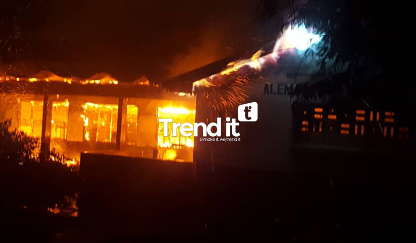 Accra Academy on fire